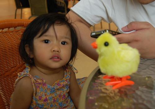 euna with jumping chick