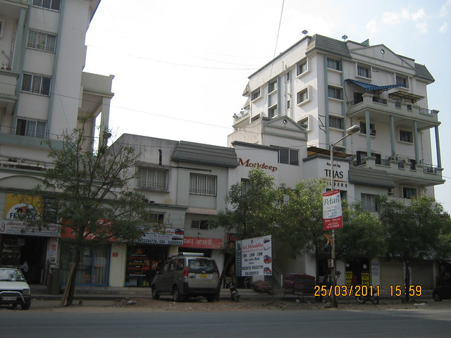 Prathamesh Park is opposite Tejas Builders' Motideep on Baner Balewadi Road at Balewadi Phata, Baner Pune