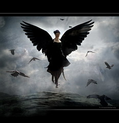 Raven Queen (h.koppdelaney) Tags: queen raven angel dark black beauty spirit shadow crow woman daughter awareness underworld gothic light symbol archetype psychology metaphor art digital photoshop symbolism philosophy picture koppdelaney obramaestra idream