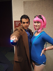 THe Doctor, and Ramona Flowers! (Fernando Lenis) Tags: flowers pen scott orlando photos cosplay who olympus doctor fernando fl ramona megacon pilgrim cosplayers 2011 lenis epl1