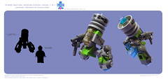 (The Slushey One) Tags: new green grey one gun lego slush laser pew slushy defense sentry tlg slushee 2011 lazar bley slushey addatagdescribingthiscreationthanks