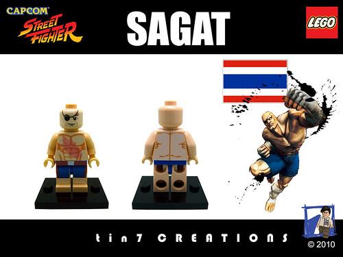 Custom minifig #04 - Sagat custom minifig
