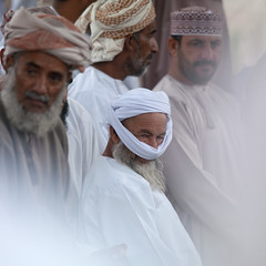Nizwa cattle market - Oman (Eric Lafforgue) Tags: people men square beard togetherness market auction interior interieur group oldman indoors together elder arabia souk inside turban wisdom oman ensemble groupe souq marche bid hommes barbe barbu nizwa omn carre sagesse dishdasha  omani sultanate arabie  colorpicture dedans traveldestination sultanat arabianpeninsula tunique photocouleur om  omo umman omaan vielhomme venteauxencheres vueinterieure colourpicture   omanais   omna omanas umn penisulearabique 4458902