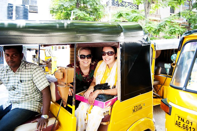 kelly & i in the rickshaw