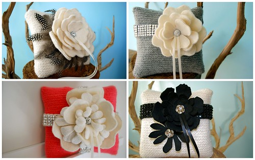 Beautiful unique these ring bearer pillows by Tallulah G can be