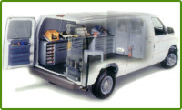 Cargo Van with a Locksmith package