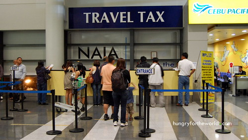 Travel tax Counter at NAIA 3
