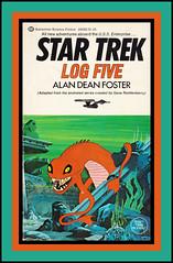 "Star Trek Log Five Paperback, 1975 (Cosmo's ""ART"" Gallery) Tags: startrek vintage book log five paperback 1975 generoddenberry alandeanfoster"