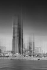 DC Tower at Danube City Vienna (langtimoalex) Tags: vienna wien dc tower donau city turm hochhaus wolkenkratzer sky black white schwarz weis architectur nikon d7000 french architect dominique perrault lang timo alexander skyscraper gebude austria einfarbig outdoor skyline architektur stadt art