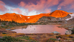 October Sunrise (mirmid2012) Tags: bobandbettylake bettylake lake alpine alpenglow sunrise morning colorado wilderness indianpeakswilderness indianpeaks mountain mountains october fall autumn