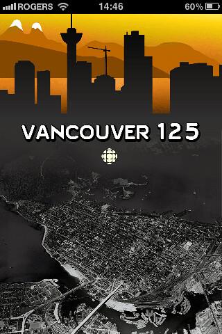 CBC's Vancouver 125 iPhone App