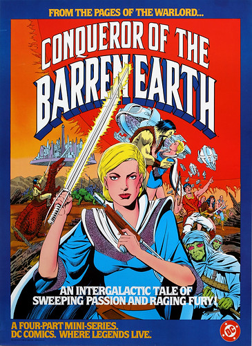 DC Comics promotional poster - Conqueror of the Barren Earth - 1984