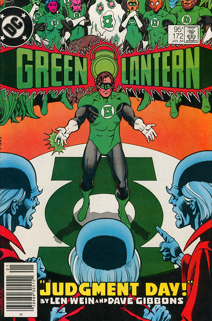 Green Lantern 172 cover by Dave Gibbons
