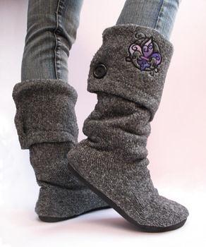 COAK sweater boots tutorial