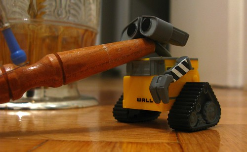 Wall-E is being naughty