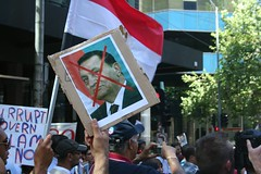 Mubarak out - Egypt Uprising solidarity Melbou...