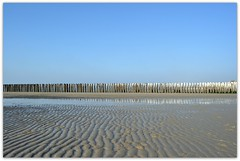 Abstract beach scene (Arjen van der Broek) Tags: winter panorama sun cold beach netherlands scenery zeeland scene winterday dishoek arjenvanderbroek