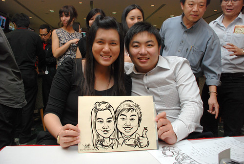 caricature live sketching for Thorn Business Associates Appreciate Night 2011 - 32