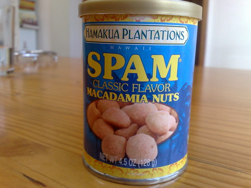 Spam-flavoured macadamia nuts