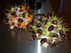 Retro Appetizer Balls (Guzzle & Nosh) Tags: party cheese tomatoes walnuts balls ham retro toothpicks 1950s grapes olives snacks appetizer 1960s oranges