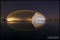 Egg-cellent Building (eddie_fletch) Tags: china city house reflection building modern stars opera long exposure cityscape centre egg performing arts beijing center structure national top20longexposure ctrippic