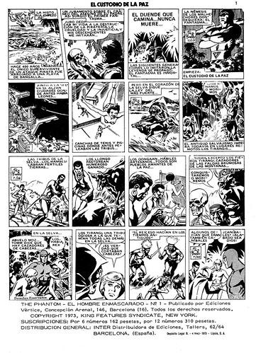 022-El Hombre Enmascarado Vol 1 nº1- 1973-Ediciones Vertice-pagina1