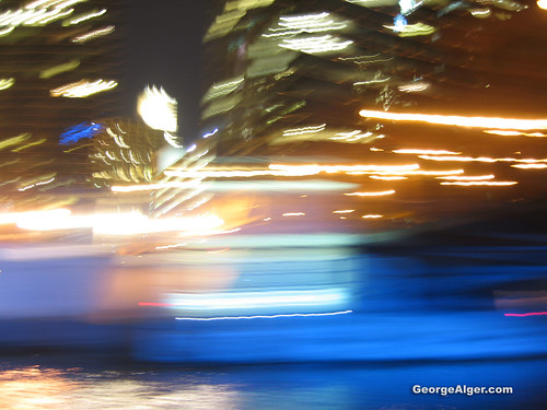 Abstract Night River