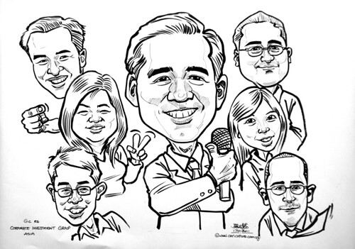 Group caricatures for GIC