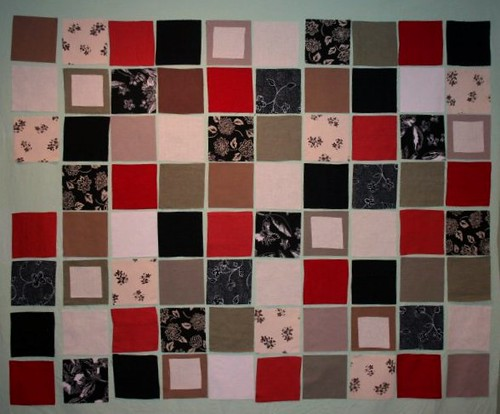 Work in Progress (linen block quilt)
