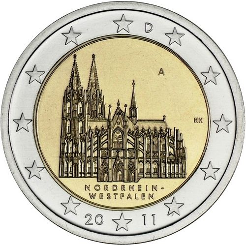 *2 Euro Nemecko 2011 A, Spolková krajina Porýnie-Westfálsko