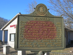 Warfield, Kentucky Historic Marker (jimmywayne) Tags: kentucky historic marker warfield martincounty