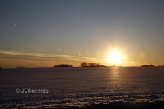 sunset on the horizon (tricky_kilvento) Tags: sunset sky sun clouds newjersey horizon nj lumberton drivingby burlingtoncounty project365 34365 dailyshoot february2011 mostly365 fostertownrd ds445