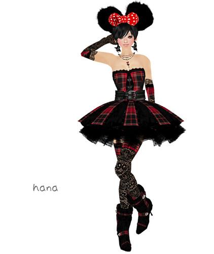 "L&B Gothic Clothing  - ""Tartan Nocturnal"" Dress set"