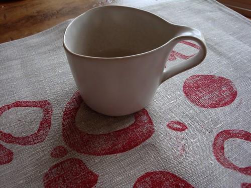 block print on linen