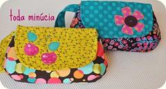 bolsinhas de mo novinhas em folha!  (toda mincia) Tags: quilt handmade artesanato craft patchwork artesana handcraft todaminciatecidotissuefabric