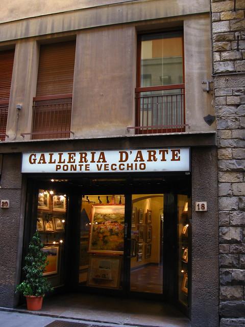 フィレンツェのギャラリーのフリー写真素材