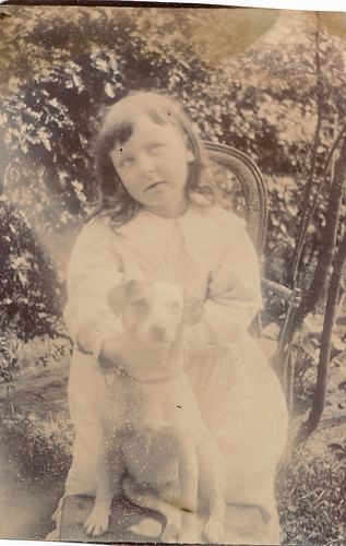 Girl with a dog.