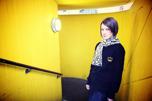 Queens Of Sounds Anagram Scarf  & Emblem Jumper - Emilie