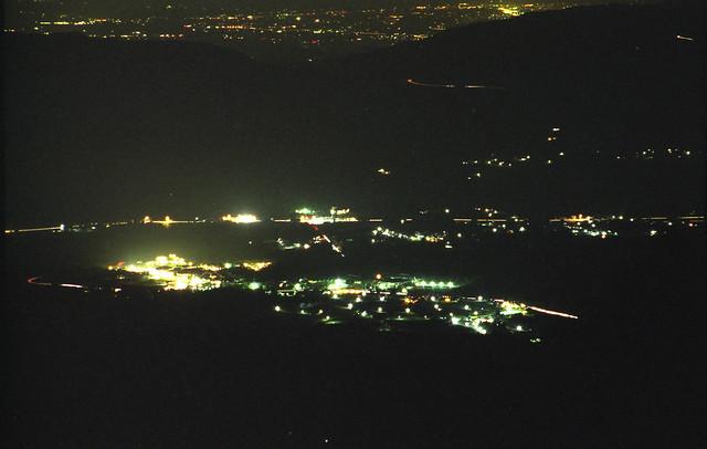熊本の夜景のフリー写真素材