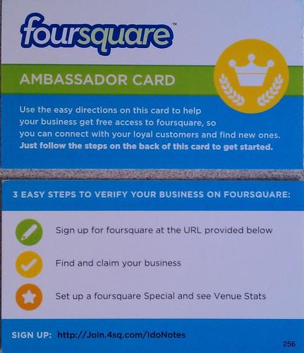 Foursquare Ambassador