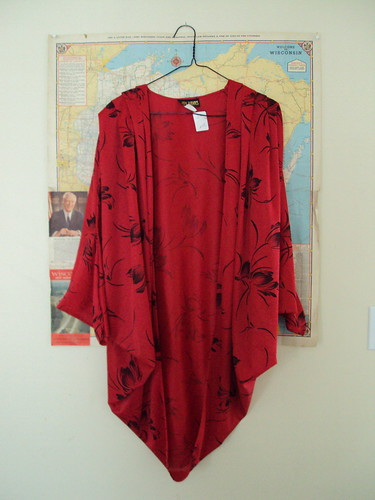 Judy Bank Flowy Cape-shirt