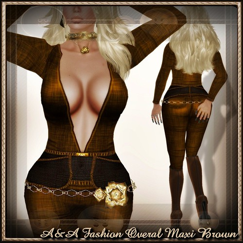 A&A Fashion Overal Maxi Brown