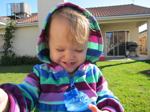 Blowing bubbles in the sun