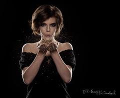 (Amanda Takes Pictures) Tags: lighting portrait cloud girl glitter studio model magic breath blow spell rimlight