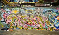 Don - Paradise Yard - Leake Street Feb 2011 (303db) Tags: street uk england london art graffiti can spray waterloo graff lambeth leake