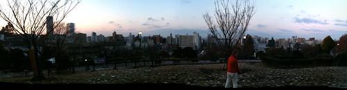 西郷山公園からのパノラマ