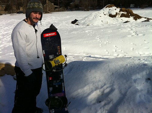 Andy Thorne's Mount Airy snowboard run