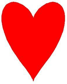 Corazón relleno de rojo