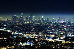 Day 44/365 - Los Angeles Skyline *Explored* (EMIV) Tags: park skyline canon los angeles observatory griffith 70200 f4l 40d