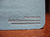 Letterpress Business Cards - Van Rozeboom Interiors